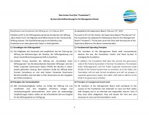 Bylaws of the Management Board
