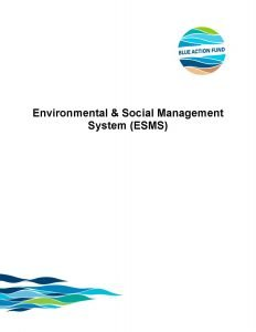 Environmental & Social Management System (ESMS)