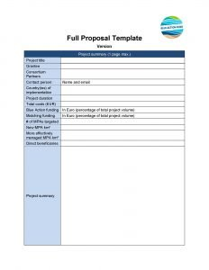 Full Proposal Template
